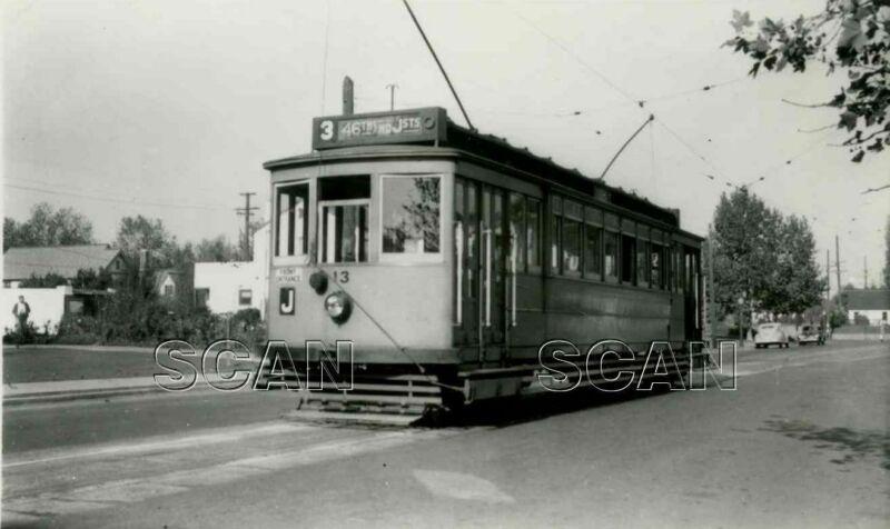 0A878 2NDGEN RP 1939/80s PACIFIC GAS & ELECTRIC RAILWAY CAR 13 46th & J St
