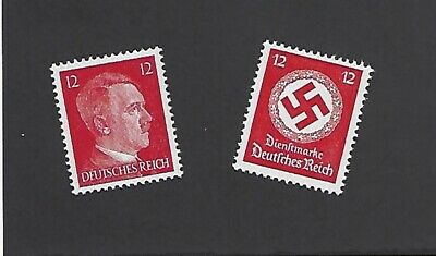 Mint Adolph Hitler & WWII Germany  MNH postage stamp set 1940s Third Reich era