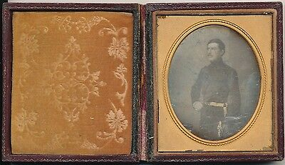 1/6 Plate Daguerreotype of a English Military Man  England  C1850