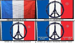 REMEMBER PARIS Flags 150x90cm - NEW - CUSTOM MADE. Limited Stock. Wembley Cambridge Area Preview