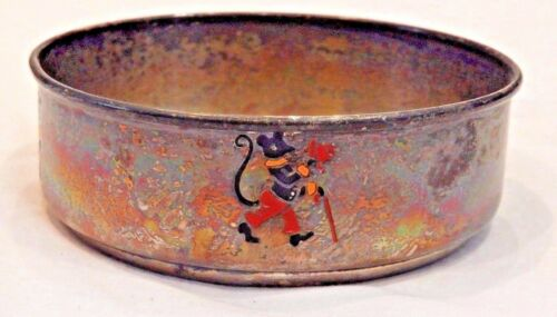 Antique Webster Company Sterling Silver with Enamel Animals Child
