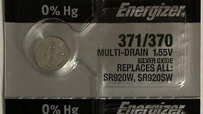 Fresh Energizer 371/370 SR920S Silver Oxide SR936SW Watch Batteries- USA Made