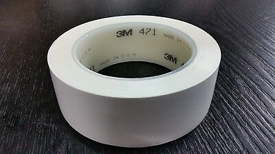 3m 471 Vinyl Plastic Tape White 14 In X 36 Yd Custom Width 1 Roll Increments