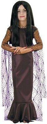Morticia Addams Family Gothic Vampire Witch Fancy Dress Halloween Child Costume - Addams Family Baby Halloween Costumes