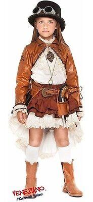 Italian Made Mädchen Viktorianisch Steampunk Halloween Kostüm Kleid Outfit - Steampunk Kostüm Mädchen
