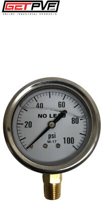 0-100psi Liquid Filled Gauge Ss Case 14 Lm Npt