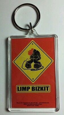 AS-IS LIMP BIZKIT CARTOON YELLOW SIGN MICROPHONE  BAND KEY CHAIN KEYCHAIN
