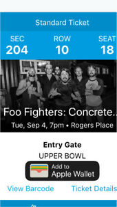 Foo Fighters Tickets Sept 4 Edm