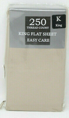 250 Thread (250 Thread Count Luxury King Flat Sheet in Taupe )