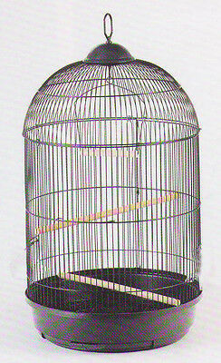 NEW 16DX29H ROUND cockatiel lovebird finch canary BIRD CAGE BLACK  368