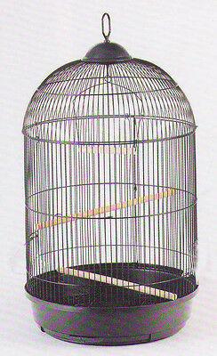 SALE 13DX24H ROUND BIRD CAGE BLACK cockatiel lovebird finch canary