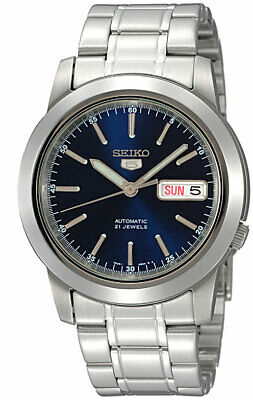 Seiko 5 SNKE51 Automatic Day-Date Blue Dial Stainless Steel Men's Watch SNKE51K1