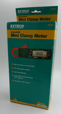 Extech 380941 High Resolution Mini 200a Acdc Clamp Meter
