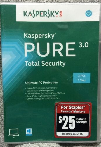 Kaspersky Lab Key Card For Kaspersky Pure 3.0 Total Inter...