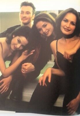 The CORRS 'group huddle'  magazine PHOTO/Poster/clipping 11x8 inches