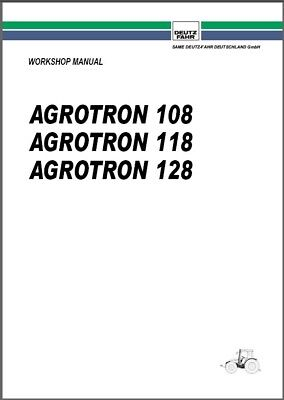 Deutz Fahr Agrotron 108 118 128 Tractor Service Manual Cd - English French