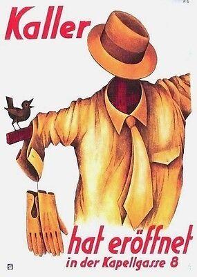 Original vintage poster KALLER MEN'S FASHION STORE 1935