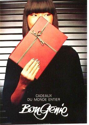 Original vintage poster BON GENIE ASIAN LADIES FASHION 1983