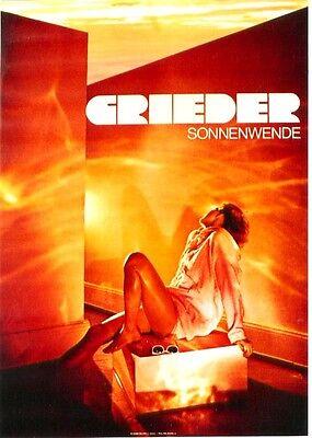Original vintage poster GRIEDER LADIES SUMMER FASHION 1983