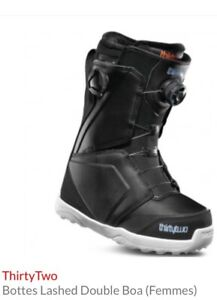Bottes snowboard femme Thirty Two Lashed NEUVES taille 9
