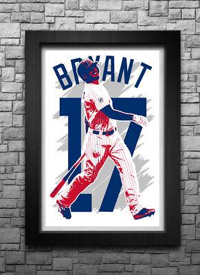 Kris Bryant Art Print Poster Chicago Cubs Free S H