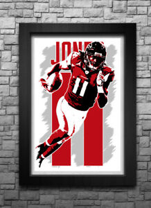 JULIO JONES art print poster ATLANTA FALCONS FREE S H! JERSEY ef1f5380b