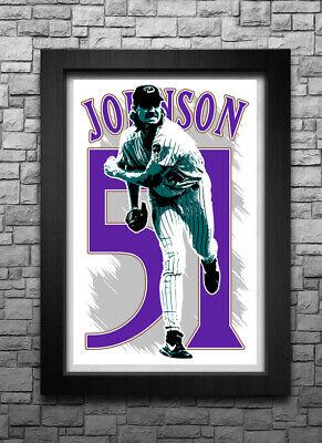 RANDY JOHNSON art print/poster ARIZONA DIAMONDBACKS FREE S&H! JERSEY