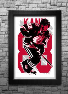 PATRICK KANE art print/poster CHICAGO BLACKHAWKS FREE S&H!