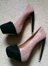 Pink & Black Heels (UK Size 4)