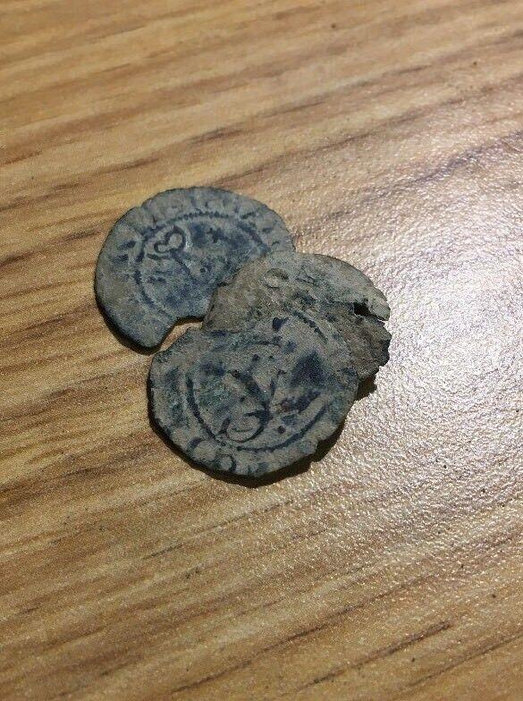 Pirate Treasure Cob Columbus Ferdinand & Isabella Spanish Copper Coin 1469-1504 For Sale - 3