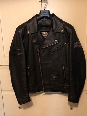 Harley Davidson Men Designator Willie G Skull Leather Jacket LT M 97078-09VM