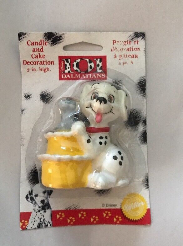 """Wilton 101 Dalmatians Candle And Cake Decoration 3"""" H Old Stock 1996"""