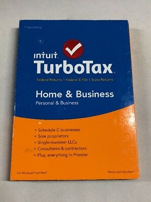Intuit Turbotax Home   Business 2015 Pc Mac  Free Shipping