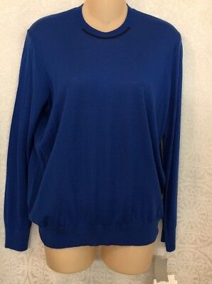 Hermes Sweater Royal Blue Thin Jersey  Long sleeve NWT $1525 SIZE 36 Xs
