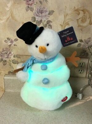 "Animated Growing Melting Snowman Sings Moving 15"" Tall Lighted Christmas RARE](Melting Snowman)"