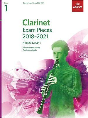 ABRSM Clarinet Exam Pieces 2018 - 2021 Grade 1 - Same Day P+P