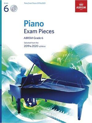 ABRSM Piano Exam Pieces Book & CD 2019 - 2020, Grade 6