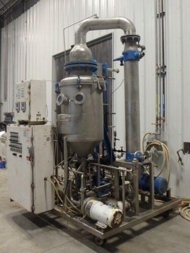 APV JR. Rising/Falling Film Plate Evaporator, 300-450 Pounds Per Hr Evaporation
