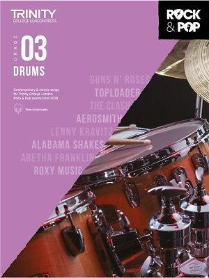 Trinity College Rock & Pop 2018 Drums Grade 3