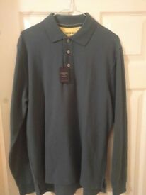 Charles Tyrwhitt Mens Long Sleeved Polo Shirt Pine Green (Medium) New with Tags