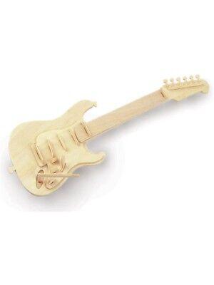 Woodcraft Construye Tus Propios Madera Miniatura Guitarra Eléctrica
