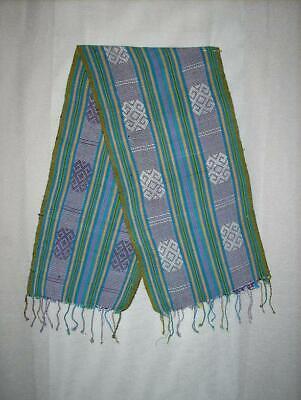 Scarf Reversible Kaif Motif No Ikat Hand Woven Weaving Tribal Timor Indonesia