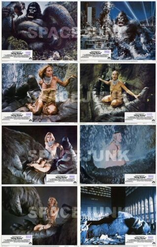 KING KONG (1976) U.S. Lobby Cards Complete Set of 8 LIMITED OFFER!!