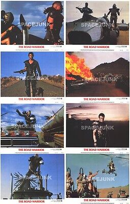 MAD MAX 2: THE ROAD WARRIOR (1981) U.S. Lobby Cards Set of 8