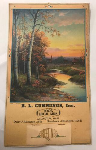B.L. Cummings Dairy 1945 Calendar