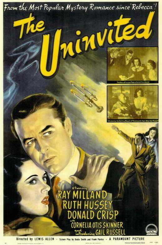 THE UNINVITED Movie POSTER 27x40 Ray Milland Ruth Hussey Donald Crisp Cornelia