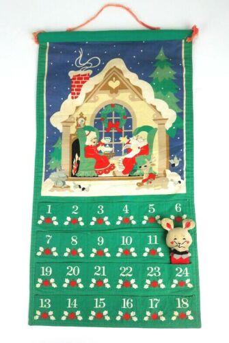 Avon 1987 Christmas Advent Calendar w ORIGINAL MOUSE UNIQUE NUMBERS FLAW - READ