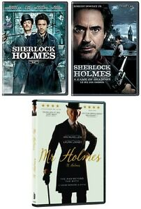 Mr. HOLMES + two SHERLOCK HOLMES movies with Robert Downey