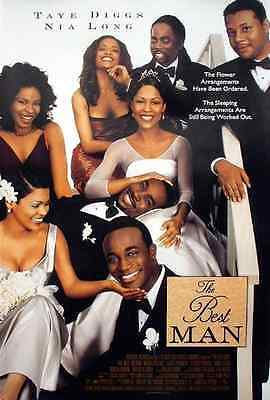 THE BEST MAN 1999 THEATRICAL MOVIE POSTER Taye Diggs, Nina Long, Terrence (Taye Diggs Best Man)