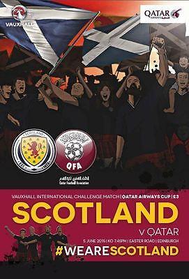 * SCOTLAND v QATAR (INTERNATIONAL FRIENDLY 5th June 2015) *